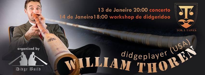 TokaTapas Didgeridoo bar flyer William Thoren