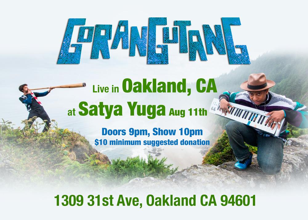 Gorangutang Oakland show