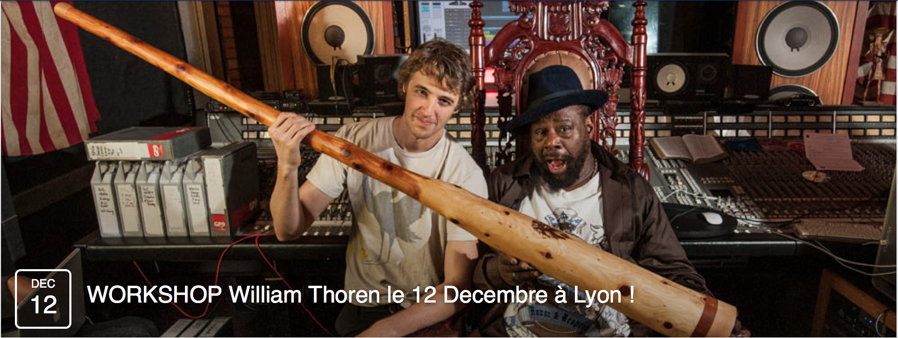 William Thoren Wet Didgeridoo Lyon France Association Australian Vibrations